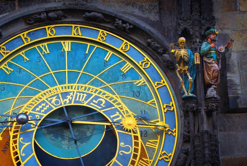 天文学时钟在老镇布拉格 免版税库存照片