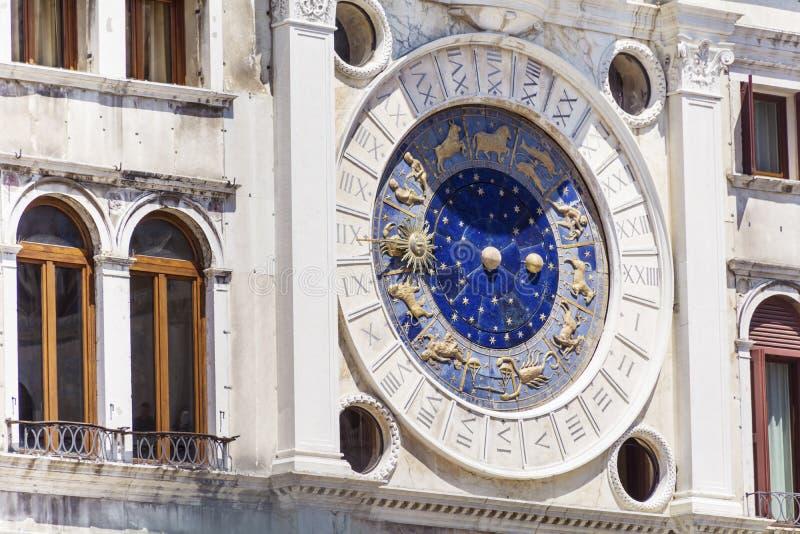 天文学时钟威尼斯 免版税库存图片
