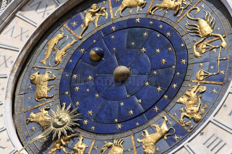 天文学时钟意大利威尼斯 免版税库存图片