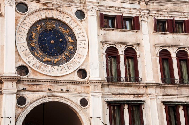 天文学时钟,威尼斯,意大利 库存照片
