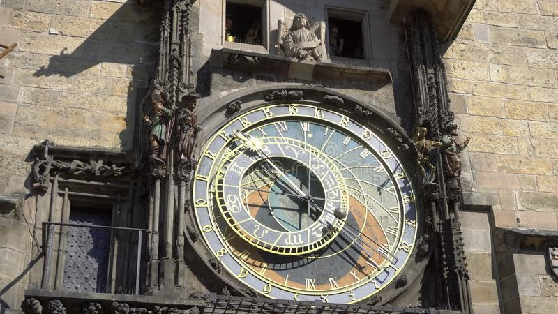 天文学时钟,布拉格Chech共和国,欧洲 库存照片