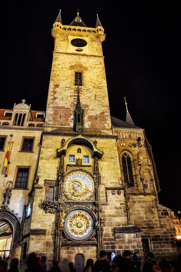 天文学时钟,老城镇厅,布拉格,捷克共和国 库存照片