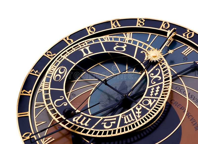 天文学时钟 免版税库存图片