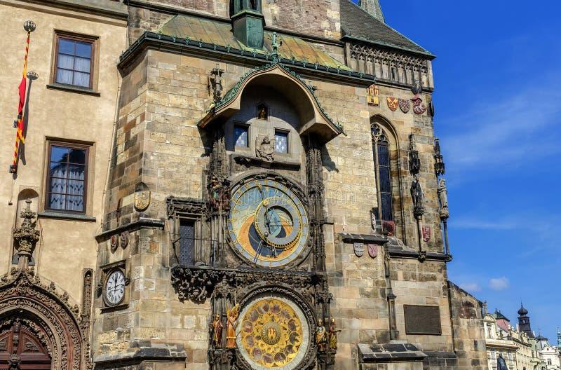 天文学时钟Orloj在布拉格-著名编钟 免版税库存照片