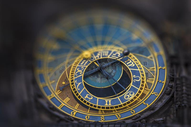 天文学时钟Orloj在布拉格 库存照片