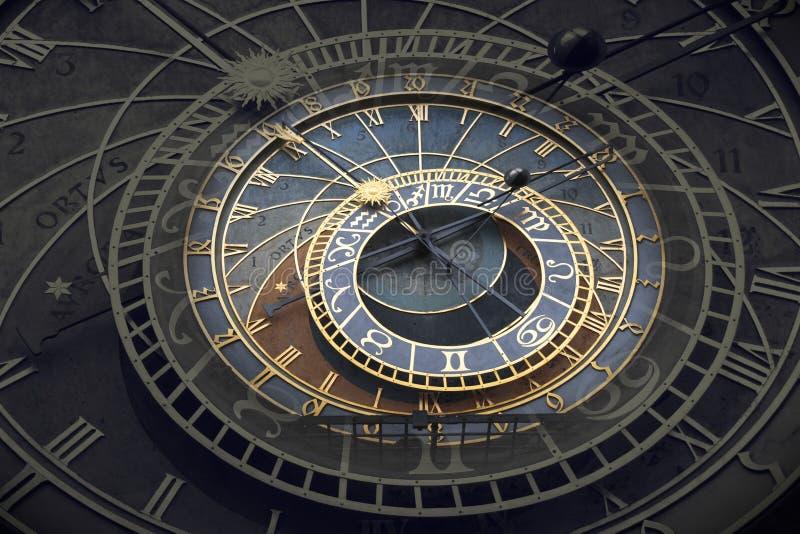 天文学时钟Orloj在布拉格 库存图片