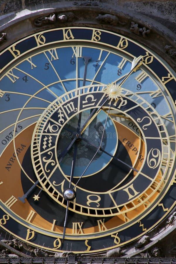 天文学时钟orloj布拉格 图库摄影