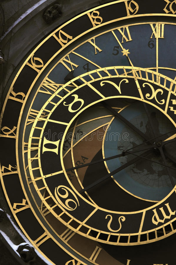 天文学时钟orloj布拉格 免版税库存图片