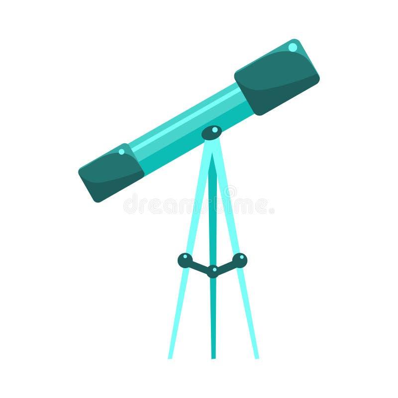 天文研究的孩子望远镜,从婴孩室,愉快的童年逗人喜爱的例证的对象 皇族释放例证