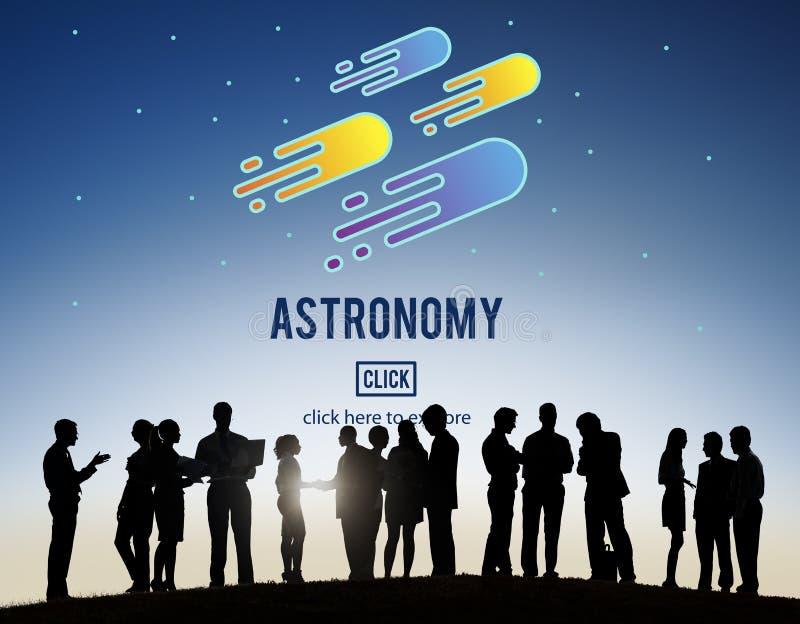 天文科学太阳系占星术流星概念 库存图片
