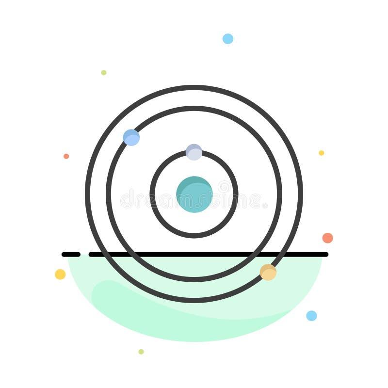天文,行星,教育,学会抽象平的颜色象模板 向量例证