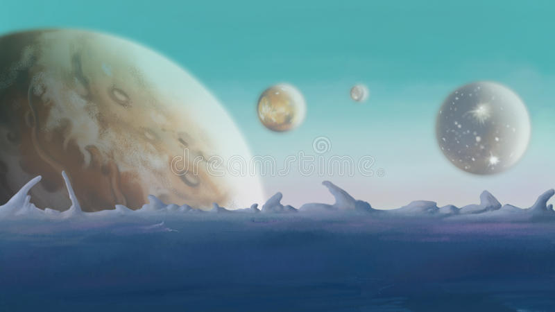 天文,行星 皇族释放例证
