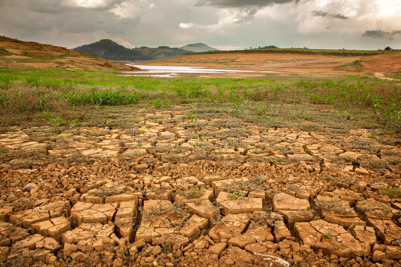 天旱土壤 免版税库存照片
