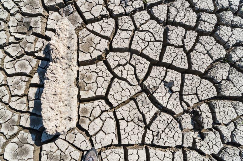 天旱,地球镇压,自然灾害 免版税库存照片