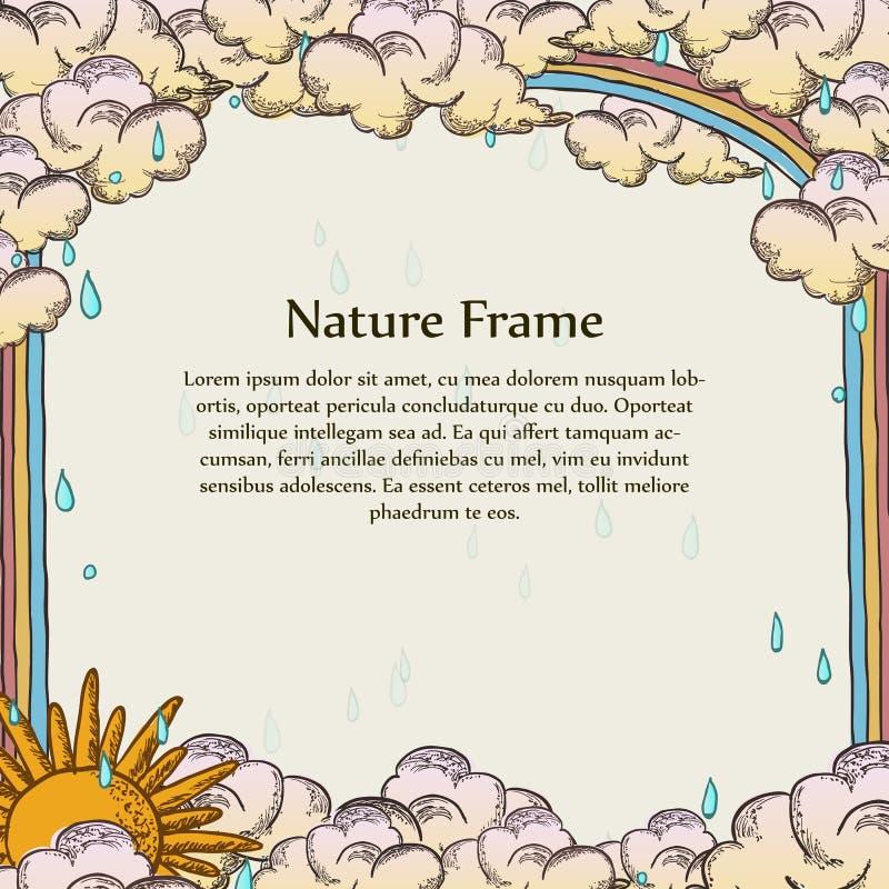 天时间天气框架模板  库存例证