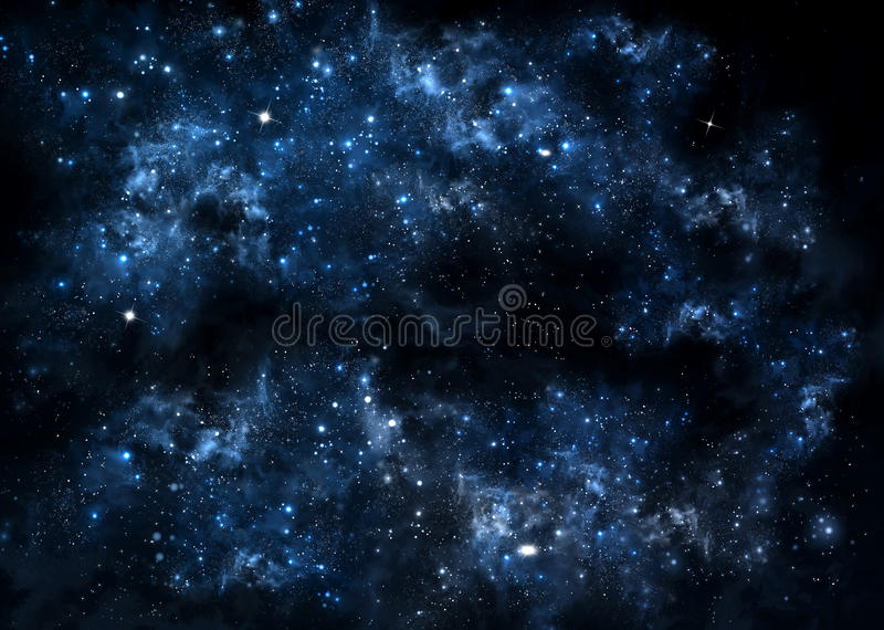 满天星斗的夜空 库存例证