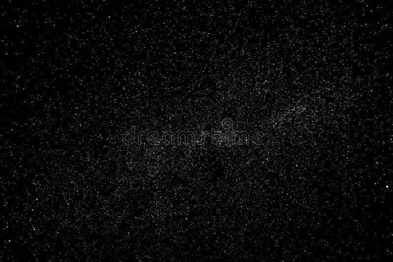 满天星斗的夜空 免版税库存照片