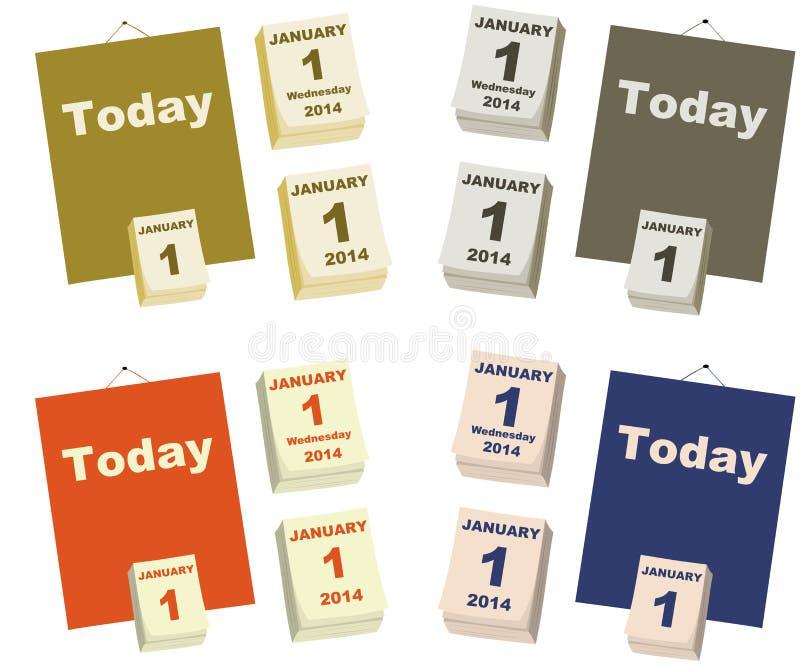 今天是新年的第一天 库存例证