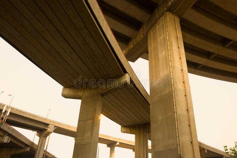 天桥在上海 库存图片