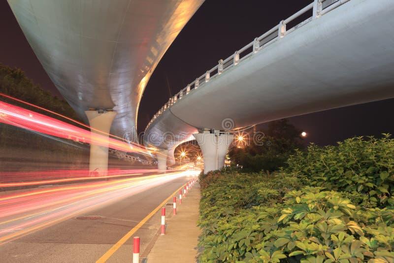 天桥夜视域 库存图片