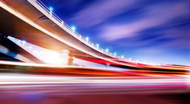天桥晚上 图库摄影