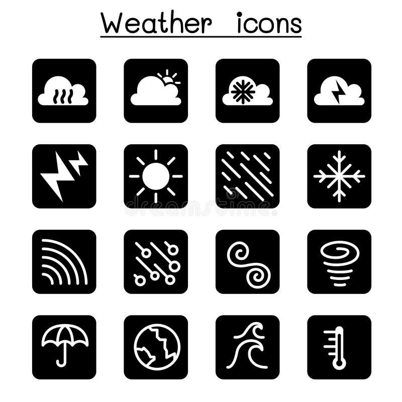 天气、气象学&气候象集合 库存例证