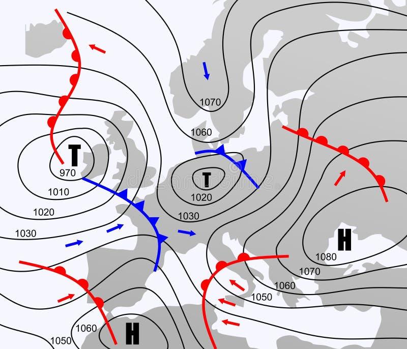天气图 库存例证