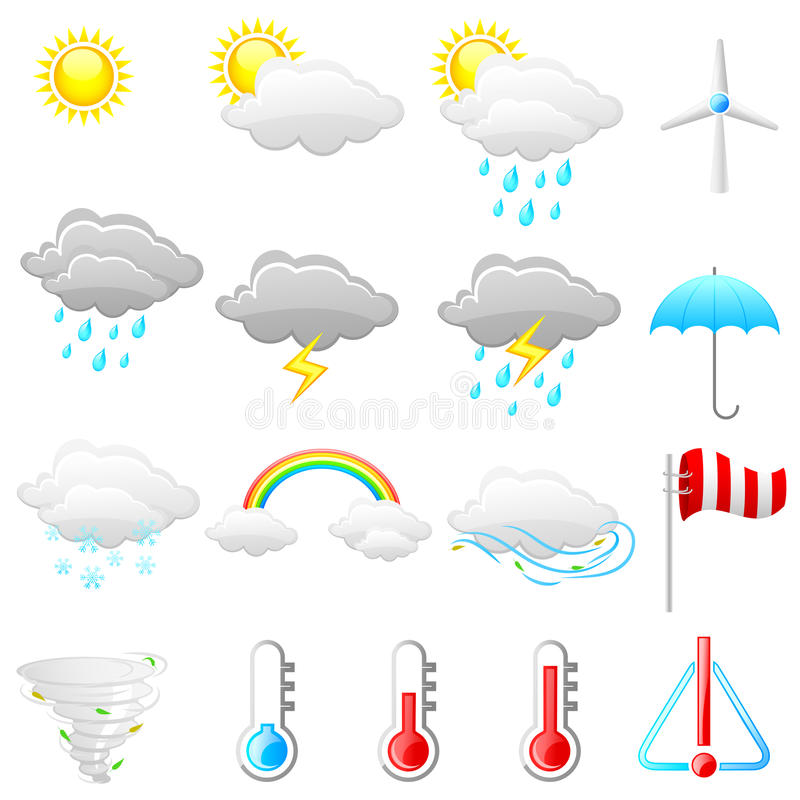 天气象 向量例证