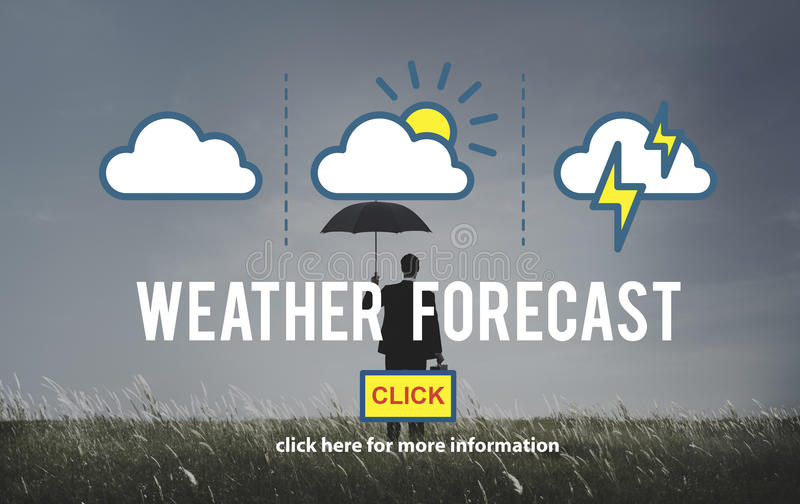 天气预报措施预言温度概念 库存例证