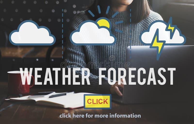天气预报温度气象学概念 免版税库存图片