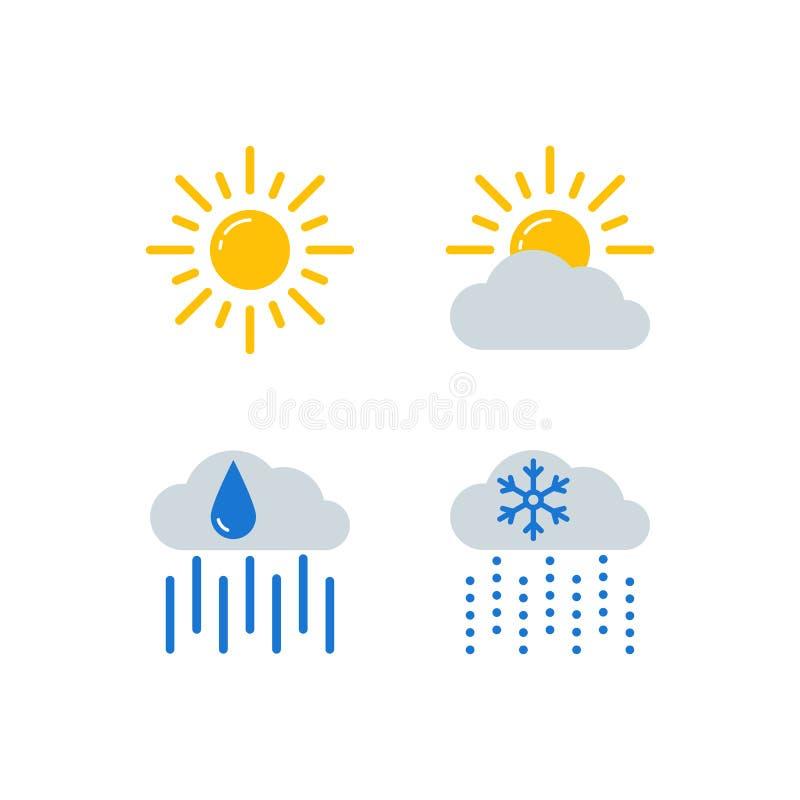天气预报被设置的传染媒介象 皇族释放例证