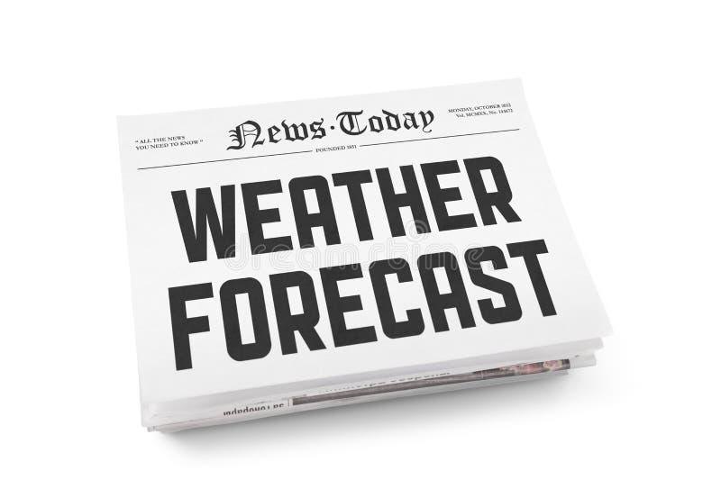 天气预报 库存照片
