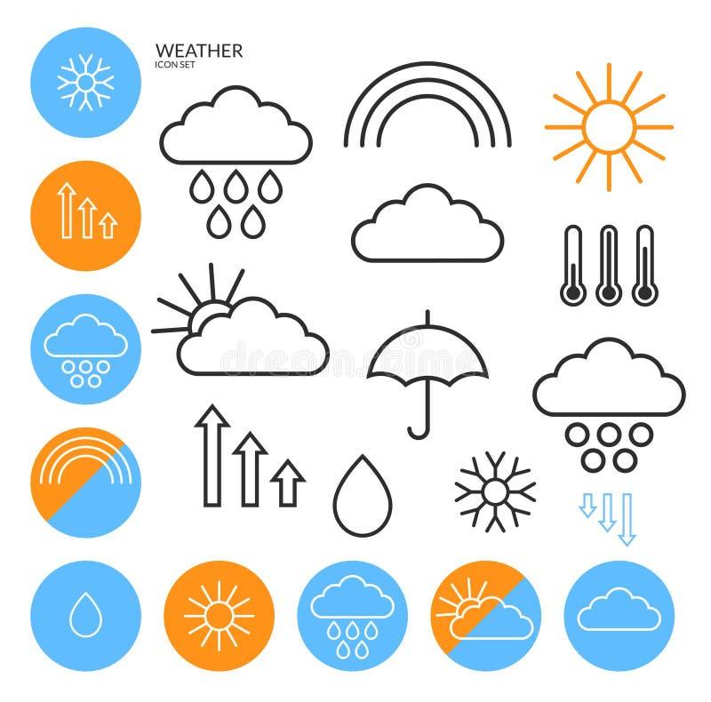 天气 象集合 分级显示 库存例证