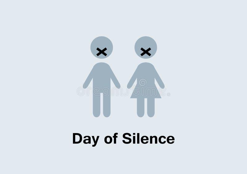 天沈默传染媒介 库存例证