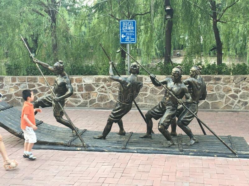 天津雕塑 免版税库存照片