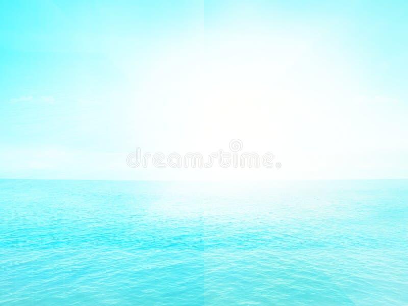 晴天海洋水背景 库存例证