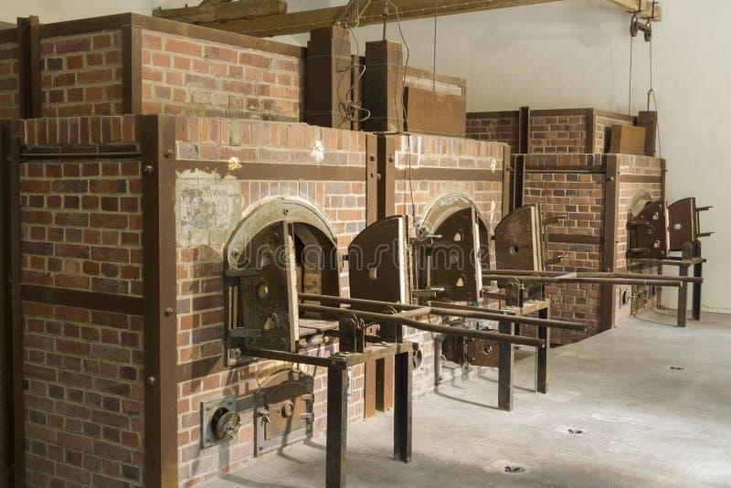 今天火葬烤箱 Dachau集中营 免版税库存照片