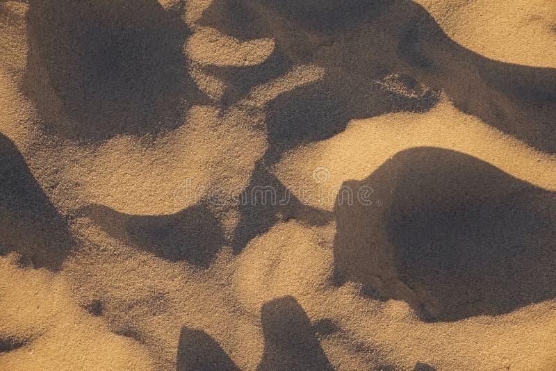 天然夕阳光下的沙滩 库存图片