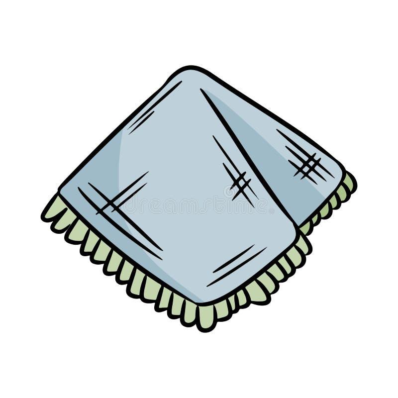 天然材料手帕 生态和零废物餐巾 r 向量例证