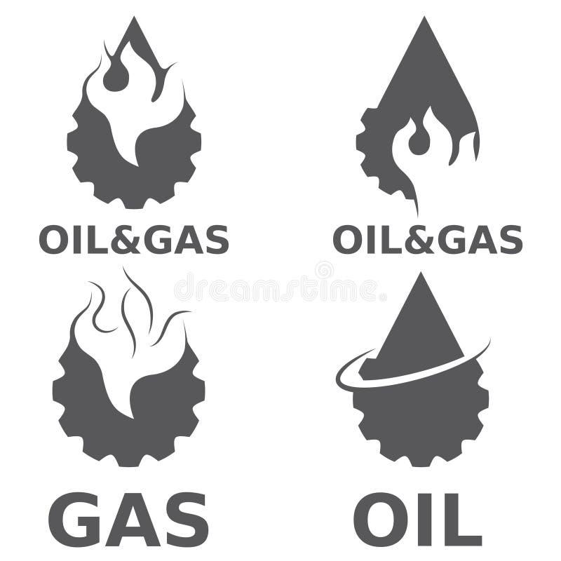 天然气产业传染媒介设计元素 库存例证