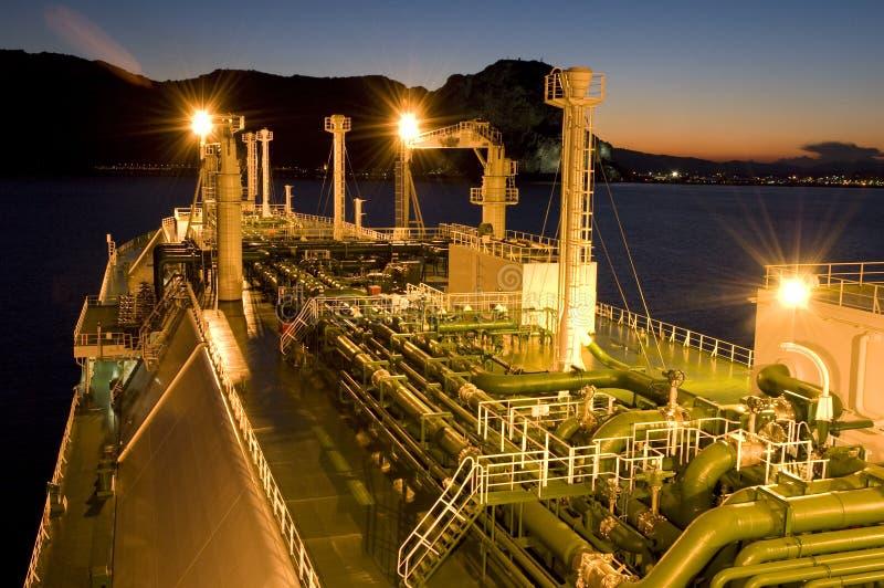 天然气产业液化天然气油槽 免版税库存图片