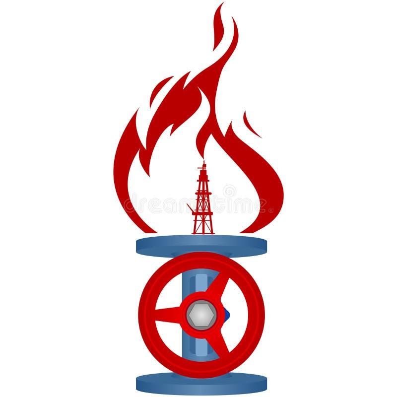 天然气产业1 向量例证