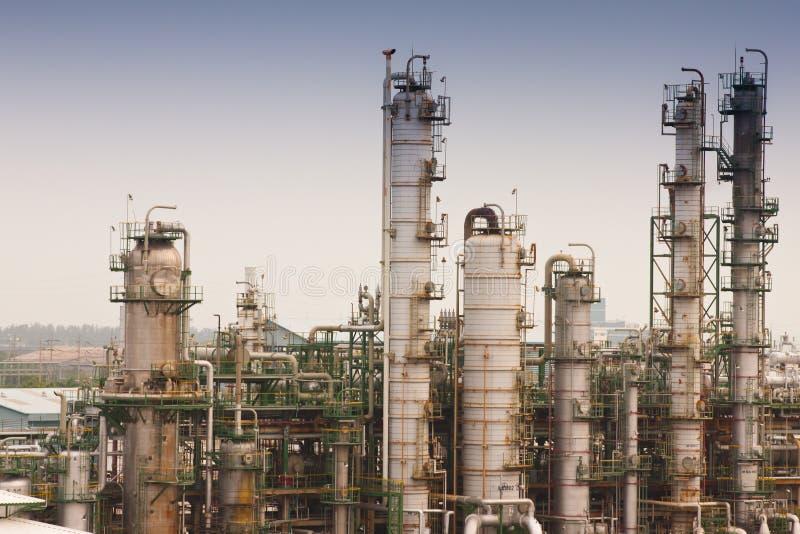 天然气加工厂精炼厂 库存图片
