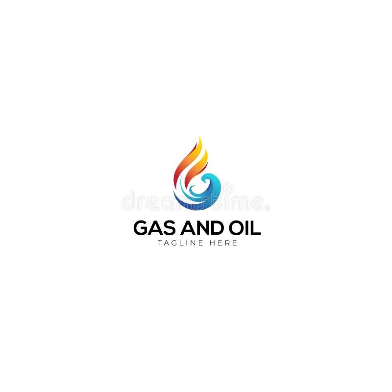 天然气和石油商标的抽象信件G 库存例证
