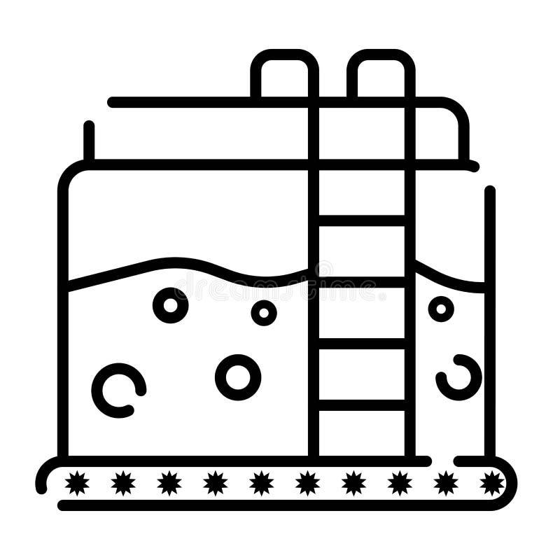 天然气坦克象传染媒介 库存例证