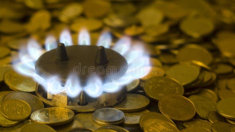 天然气的高价 库存图片