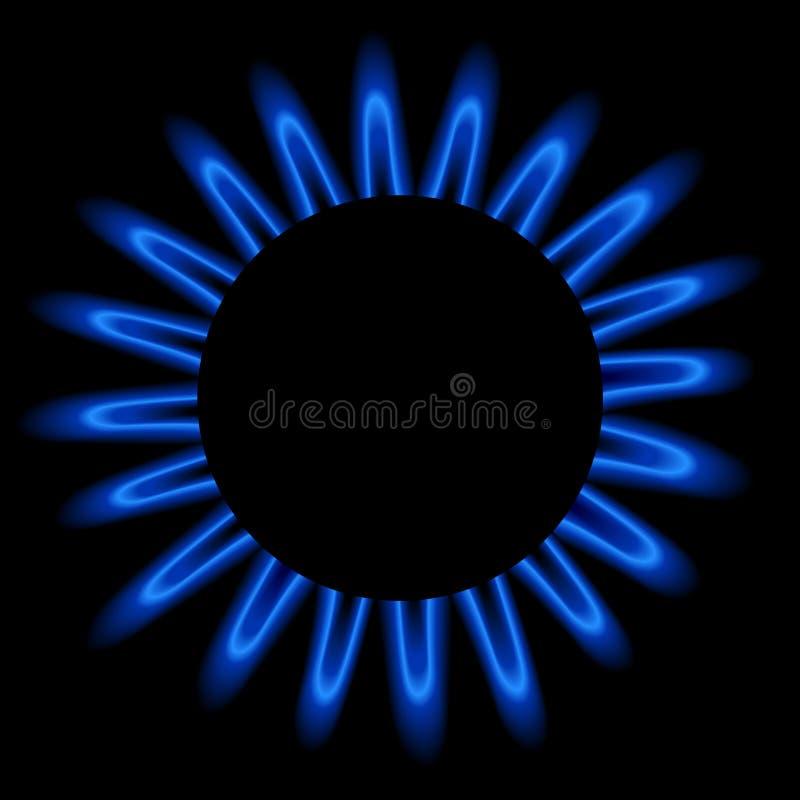天然火焰气体 皇族释放例证