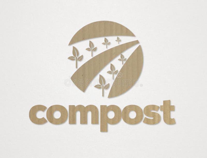 天然肥料概念 库存例证