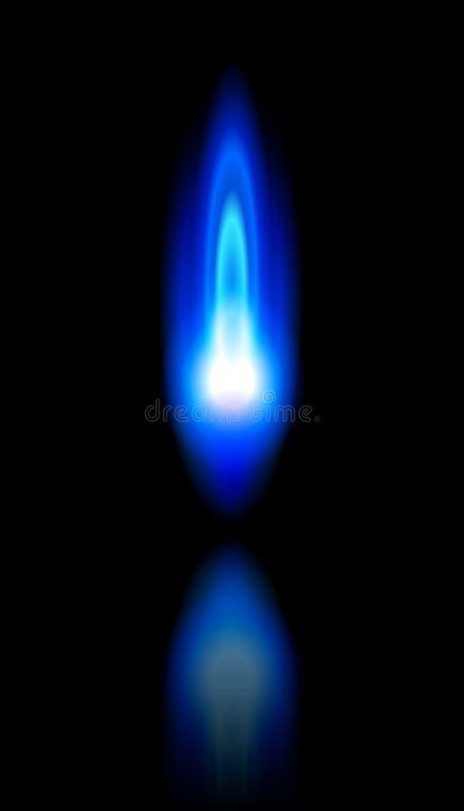 天然蓝色灼烧的火焰气体 向量例证