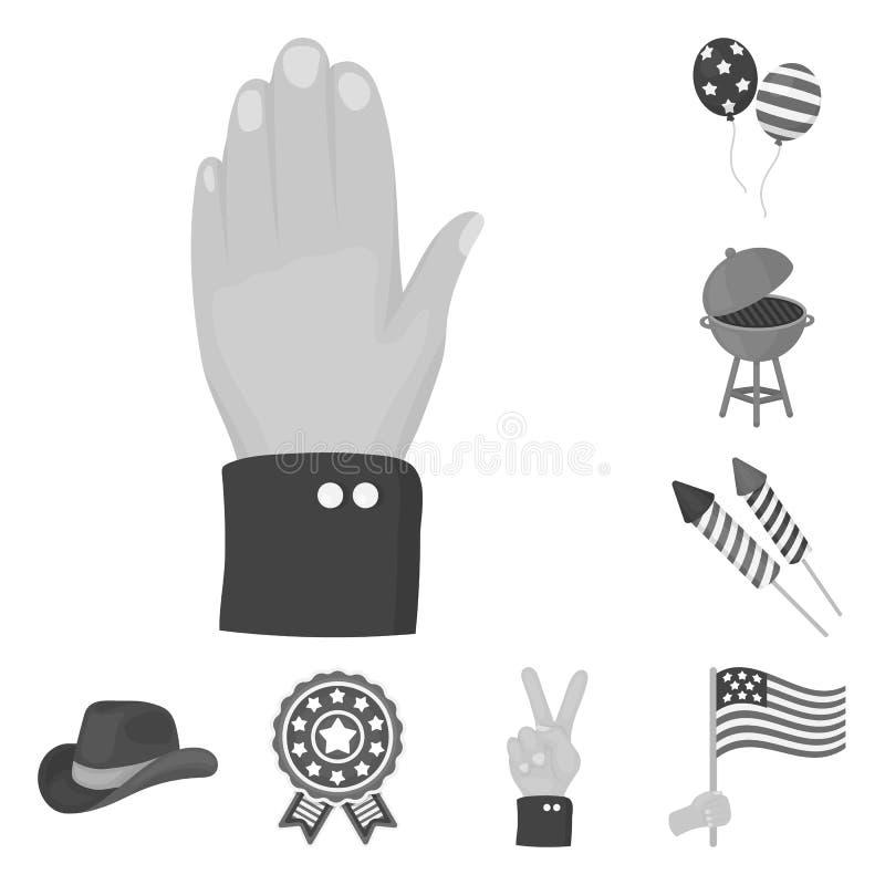 天爱国者,在集合汇集的假日单色象的设计 美国传统传染媒介标志股票网 皇族释放例证